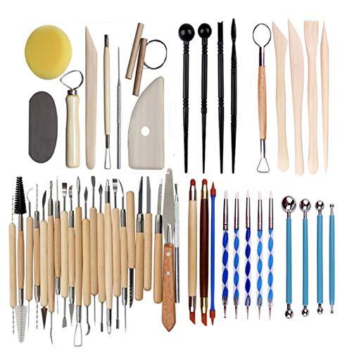 Juego herramientas cerámica arcilla polimérica para esculpir modelado madera arcilla, herramienta para tallar arcilla, bolsa almacenamiento, delantal para pintura en roca, arcilla cerámica