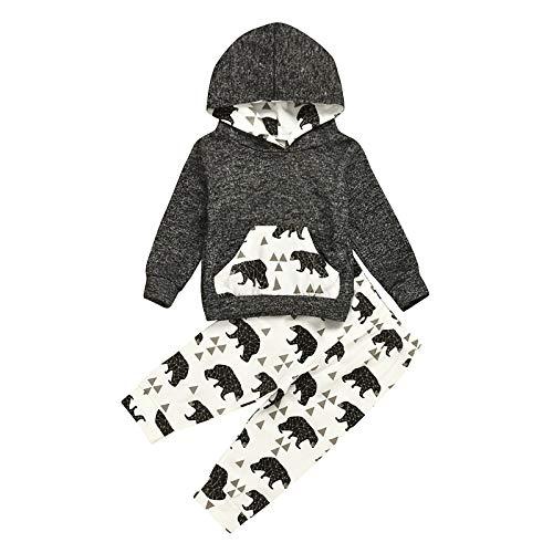 Afocuz Baby Boy Clothes Newborn Long Sleeve Printed Hoodie Top and Camo...