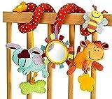 StillCool Juguetes Colgantes Espiral de Animales, Bebé Infantil Cuna Juguete Colgando Sonajeros Espiral para Cuna Cochecito Carrito bebés niños niñas Arrastrar-Colorido