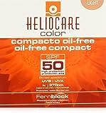 Heliocare - Crema maquillaje compacto sin aceite con SPF 50 - Color Light