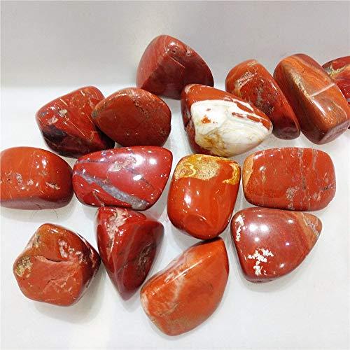 ZUQIEE Red Jasper Cuarzo Cristal Circlado Piedra Reiki Healing Piedra Natural de Piedra Y Minerales Home Jardín Decoración para Venta 100G