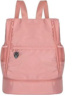 LIAWEI Bolsa de viaje húmeda y seca mochila de doble propósito, mochila plegable al aire libre, transpirable, impermeable, ligera, bolsa de fitness para gimnasio, equitación, viajes, montañismo