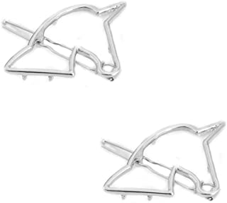 X-SPORT Minimalist Horse Head Hair Clip Dainty Hollow Metal Hairpin Clamps Accessories Gold Silver for Women and Girls 2pcs