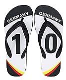 palupas WM 2018 Deutschland Merchandise Fanartikel Flip Flop Zehentrenner mit Motiv Team Edition no. 10'