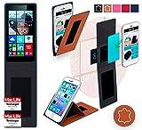 Hülle für Microsoft Lumia 640 Tasche Cover Hülle Bumper | Braun Leder | Testsieger