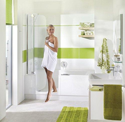 Badewanne mit Tür und Dusche 160 Artweger Twinline 2 mit Rutschhemmende Zone Profil weiss