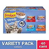 Purina Friskies Wet Cat Food Variety Pack, Shreds Beef,...
