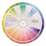Healifty Ruota di Colori Creativi Miscelazione di Vernici Guida di Apprendimento Classe D'arte Strumento Didattico Ruota Dei Colori Tatuaggio Carta di Apprendimento Dei Colori