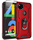 SunRemex Google Pixel 4a Case(2020) with Tempered Glass...