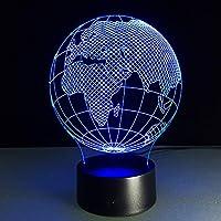 漫画風テーブルランプ世界地図3Dステレオビジョン3DテーブルランプギフトLED照明家の装飾デスクルーム照明最高