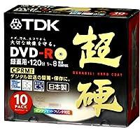 TDK 録画用DVD-R 超硬 8倍速 CPRM対応 ゴールドプリンタブル 10枚パック DR120HCDPG10K