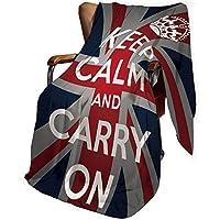 ユニオンジャック ひざ掛け 、引用クラウン図英国の英国の旗の装飾 150cm X 130cm ソファ オフィス 車用 おしゃれ 北欧風 プレゼント 穏やかなとケアリーに保つ