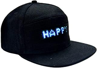 Led Display Cap Wterproof Smartphone Controlled LED Hat with LED Screen Light