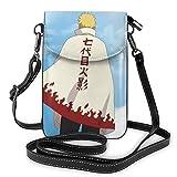 Anime Uzumaki - Bolso bandolera de piel para teléfono celular, bolsa de viaje, bolsa de hombro con cred
