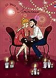 Cadeau couple - calendrier avent 25 jours en amoureux - cadeau amour et saint-valentin - homme femme - messages et défis
