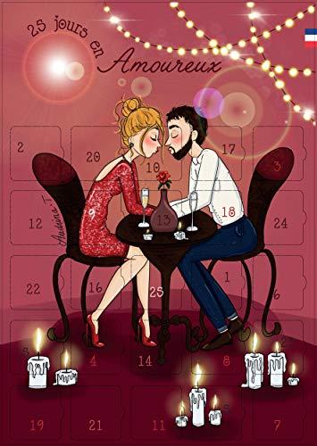 Geschenk Paar – Adventskalender 25 Tage in Verliebte – Geschenk Liebe und Valentinstag – Herren Damen – Botschaften und Herausforderungen