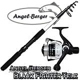 Angel-Berger Angelset Teleskoprute und Rolle (2.10m Rute + 120RD Rolle)
