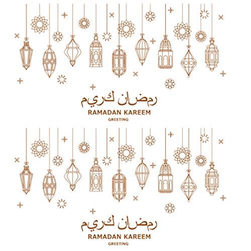 Gadpiparty Ramadan Kareem - Adhesivo decorativo para pared, adhesivo de PVC con cultura musulmana, extraíble, para el hogar, dormitorio, fiesta, festival, decoración