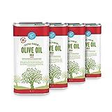 Marca Amazon - Happy Belly 100% Aceite de oliva virgen extra española (4 x 1L)