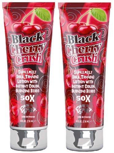 2 X Fiesta Sun Black Cherry Crush 236ml Sunbed Lotion Tanning Cream Fruity Sensations