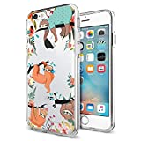 Cocomong Cute Sloth Animal Phone Case for iPhone 6 6s Case 4.7' Clear with Funny Sloth Design Protective Flexible TPU Phone Cover Gifts for Girls Men Friends Anti-Drop-Scratch Shockproof Bumper
