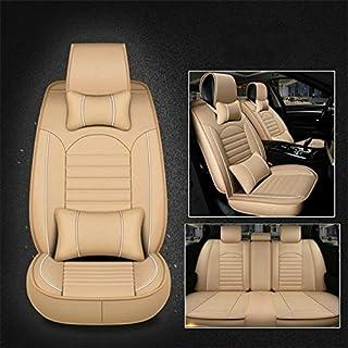 Asientos para automóviles Universal de la PU del cuero del asiento de coche cubierta (Beige Deluxe)