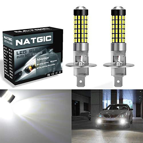 Keenso 2Pcs H3 5050 White 9 SMD LED Xenon DC12V Auto Car Fog Light Lamp LED Bulbs 6500K Super Bright