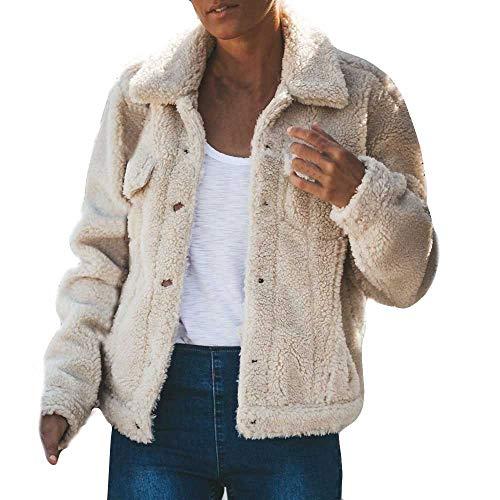 Best Deals! Pumsun Womens Plush Autumn Pocket Winter Long Sleeve Keep Warm Fashion Pocket Long Coat ...