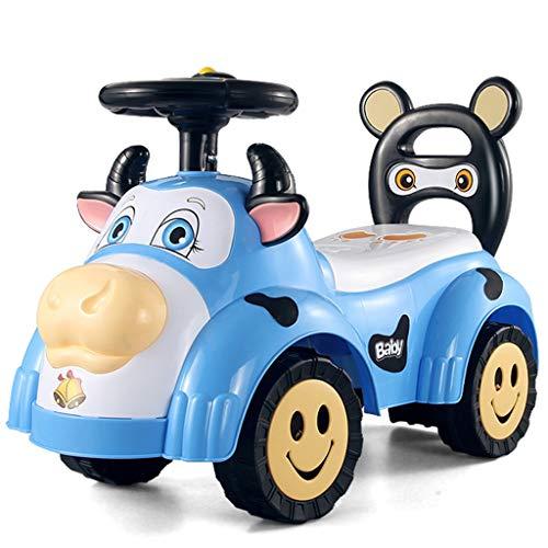 Voiture pour Enfants Twist avec Musique Slide Yo Car Baby Voiture à Quatre Roues pour Tout-Petits 1-3 Ans Baby Toy Poussette FANJIANI (Couleur : Bleu)