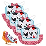 YAIKOAI 4 PCS Chicken Saddle Hen Apron, Chicken Jacket with Elastic Straps for Small Medium and Large Hens Feather Fixer Wing Back Protector for Poultry Care Accessories Hen Supplies