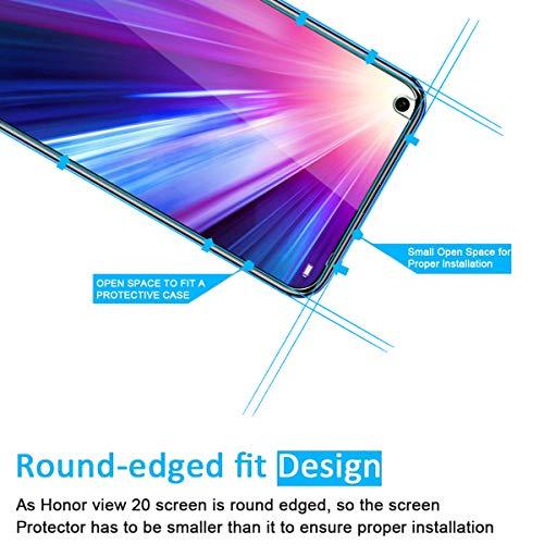 NEW'C PanzerglasFolie Schutzfolie für Huawei Honor View 20, [2 Stück] Frei von Kratzern Fingabdrücken und Öl, 9H Härte, 0.33mm Ultra-klar, DisplayschutzfoliekompatibelHuawei Honor View 20 - 3