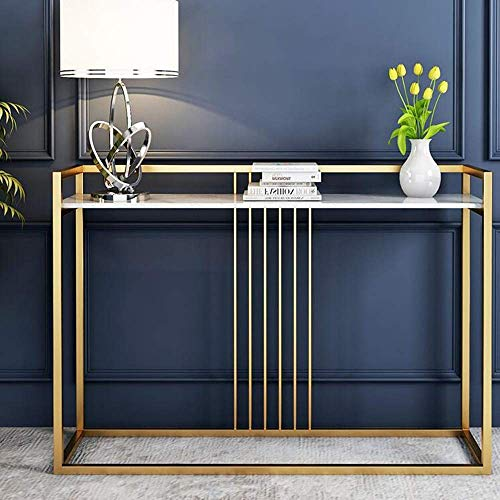 KEDUODUO Table Collection Sofa Hallway Wall Table with Sturdy Metal Marble Entryway Console Table Tall Sofa Entryway Table Against Any Wall 31×11.8×29.5in