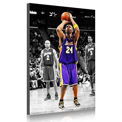Kobe Canvas Prints Los Angeles Lakers Poster Picture Basketball Sports Wall Decor Artwork Unstretched (Prints 22,100x160cm) image