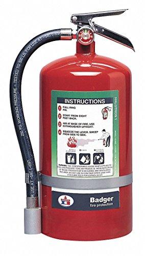 Fire Extinguisher, 2A:10B:C, Halotron, 15-1/2 lb.