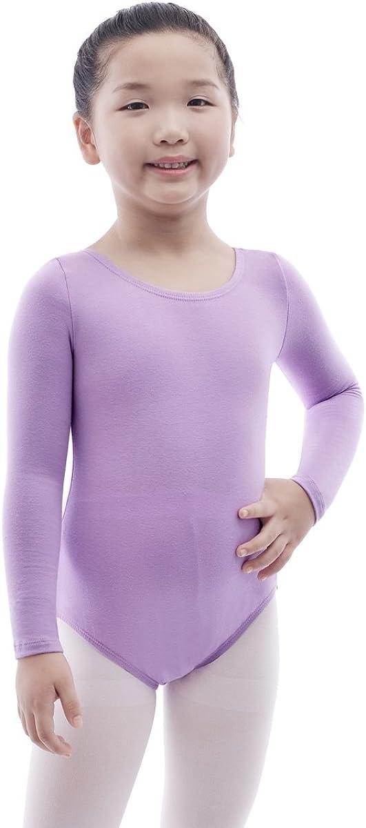 MAGIC TOWN Long Sleeve Leotard for Girls Toddler Gymnastics Ballet Dance