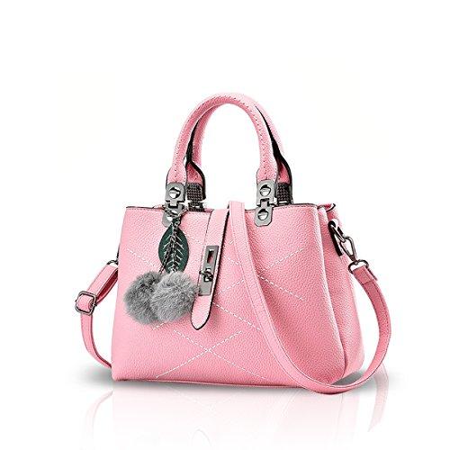 NICOLE & DORIS 2021 Neue Welle Paket Kuriertasche Damen weiblichen Beutel Handtaschen für Frauen Handtasche Rosa