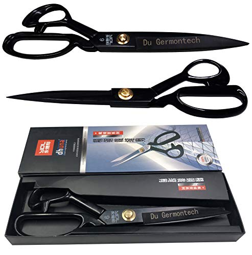 DHUNA - YDL 9'' Inches Steal Tailor Cloth Cutting Scissors Paper Textile Sewing Machine Multi Purpose Cutting Scissors