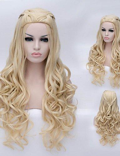 Moda Wigstyle La hermosa de alta calidad de seda de alta temperatura moda niña preparará una peluca en venta barata
