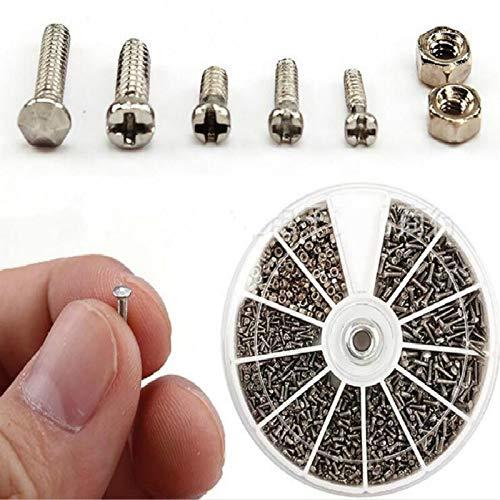 1 Doos (600 Stuks) 12 Soorten Van Kleine Schroeven Moeren Assortiment Kit M1 M1.2 M1.4 M1.6 Schroef Voor Horloges Glassessment Reparatie Gereedschap Tornillos LIFUQIANGME