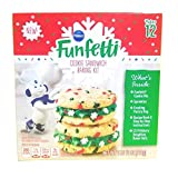 Funfetti Christmas Cookie Sandwich Baking Kit, Holiday Cookie Mix, Sprinkles and Frosting, Makes 12 Sandwiches