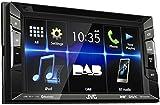 JVC KW-V235DBT Bluetooth Black car media receiver - car media receivers (4.0 channels, DAB,FM,LW,MW,...