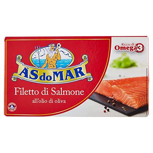 Asdomar Filetti di Salmone all Olio di Oliva, 150g