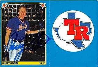 rusty staub autographed baseball