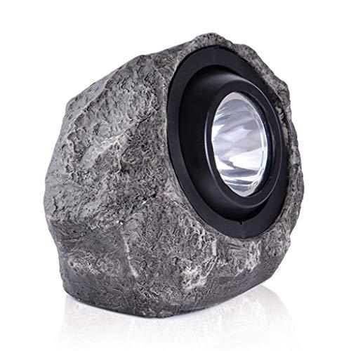 Lightshao Solar-energie voor buiten, tuinverlichting, simulatie steen tuin, gazon, decoratie, LED waterdichte spot, 30 lumen