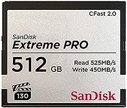SanDisk Extreme Pro 512 GB CFast Card Model SDCFSP-512G-A46D