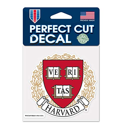 """WinCraft NCAA Harvard College Perfect Cut Color Decal, 4"""" x 4"""""""
