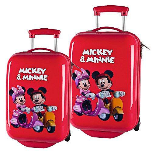 Disney Mickey und Minnie, Kofferset Kindergepäck, 59 Liter, Rot