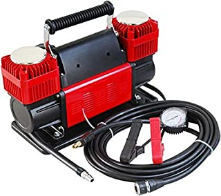 Ultra Extreme 4x4 Tire Super Air Flow Portable Car Air compressor 300 Litter-Mints 150 PSI With Carry Bag Color RED- for Cars-SUV-Diana