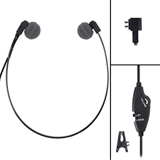 ECS WordHear-O DAP 2 Prong Transcription Headset with Antimicrobial Under-Chin Design, for Dictaphone Devices
