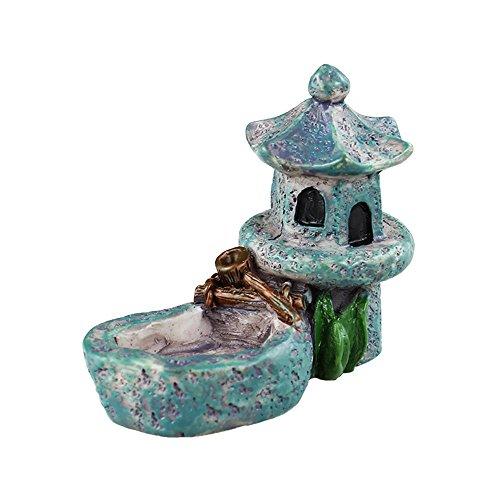 Danmu Art Mini Pabellón de Resina con un pequeño Estanque en Miniatura casa Hada jardín...